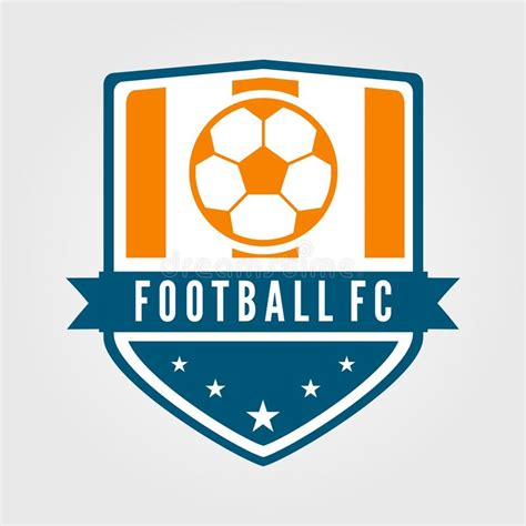 Soccer And Football Team Badge With Modern And Flat Style