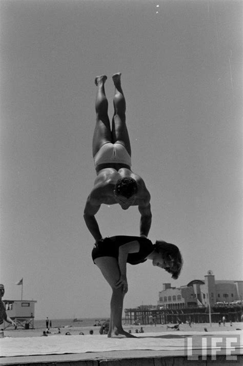 12 Year Old Strong Girl at Muscle Beach, 1954 ~ Vintage