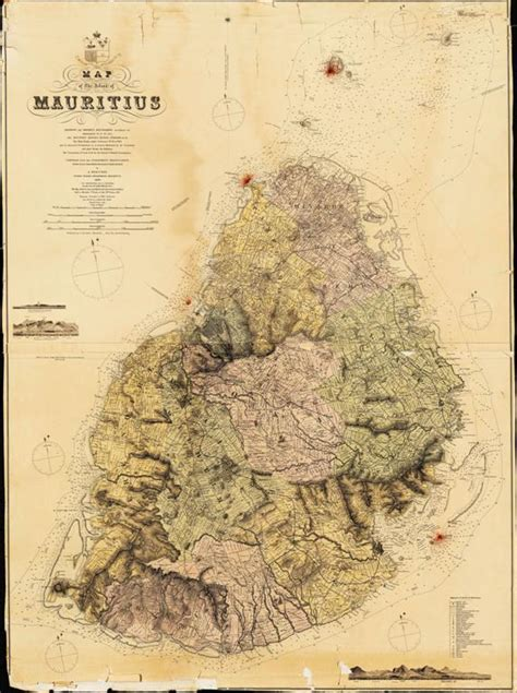 Mauritius Historical Map - Mauritius Attractions