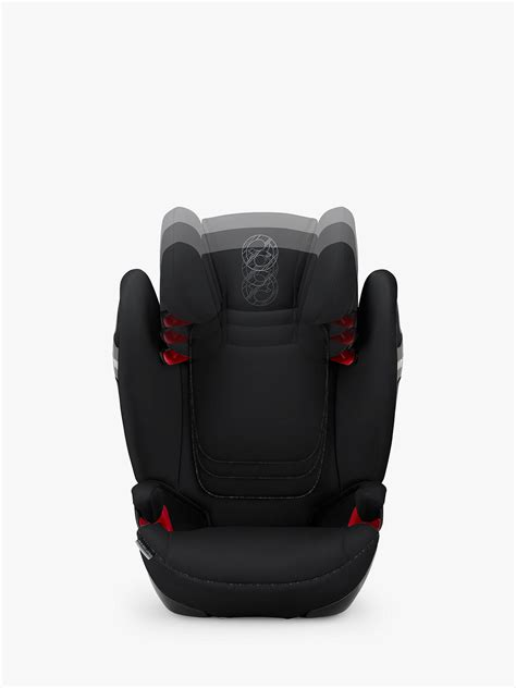Cybex Solution S-Fix Group 2/3 Car Seat, Urban Black at