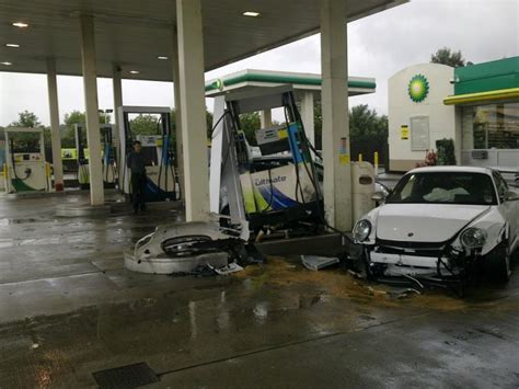 Porsche 911 GT3 RS Crashes At Gas Station In The UK | Top