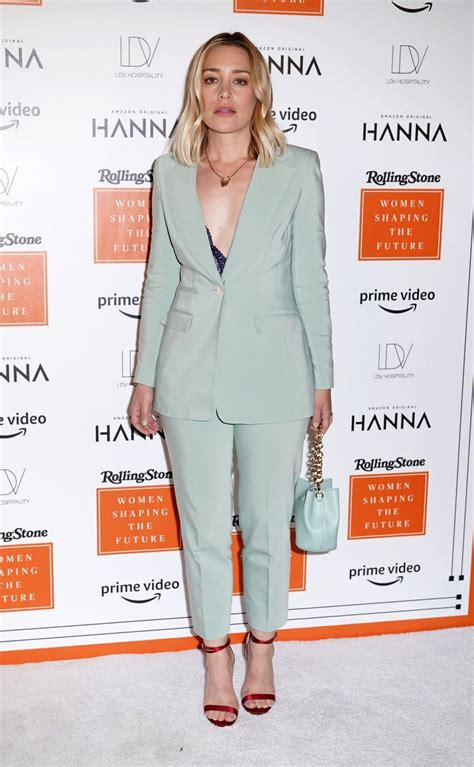 Very sexy Piper Perabo in a suit at Rolling Stones Women's