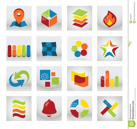 Abstract Mobile Application Logo Stock Image - Image: 31295441