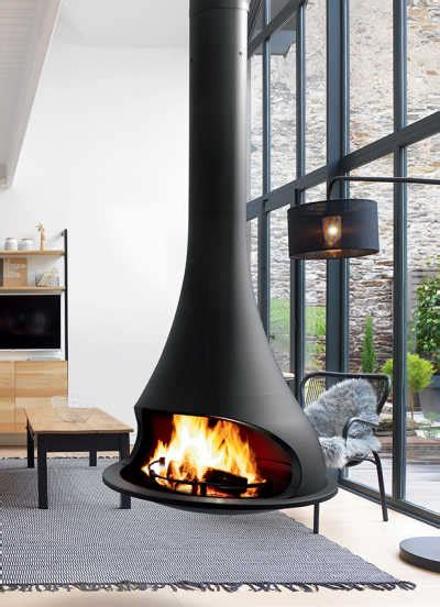 JC BORDELET : suspended fireplace, wall fireplace & modern