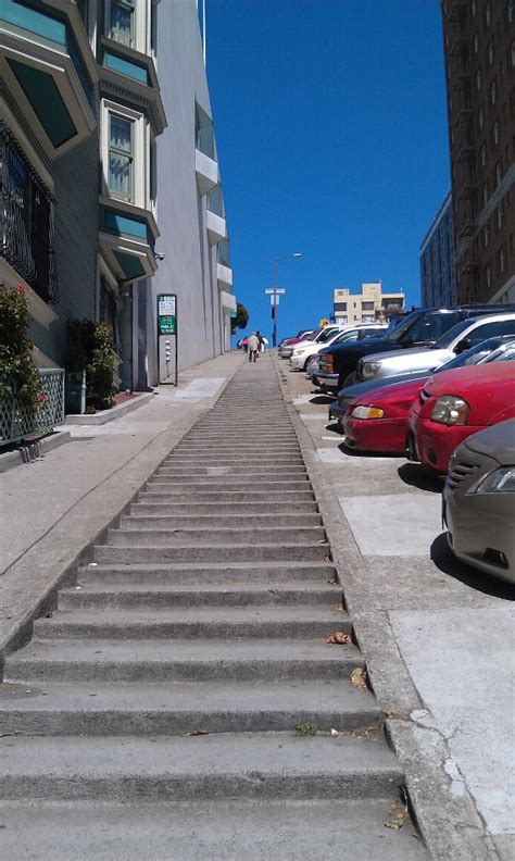 Where the hills are so steep the sidewalks have freakin