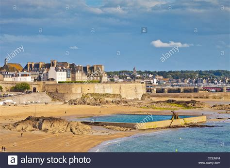 St Malo, Brittany, France, with its ramparts, one of its