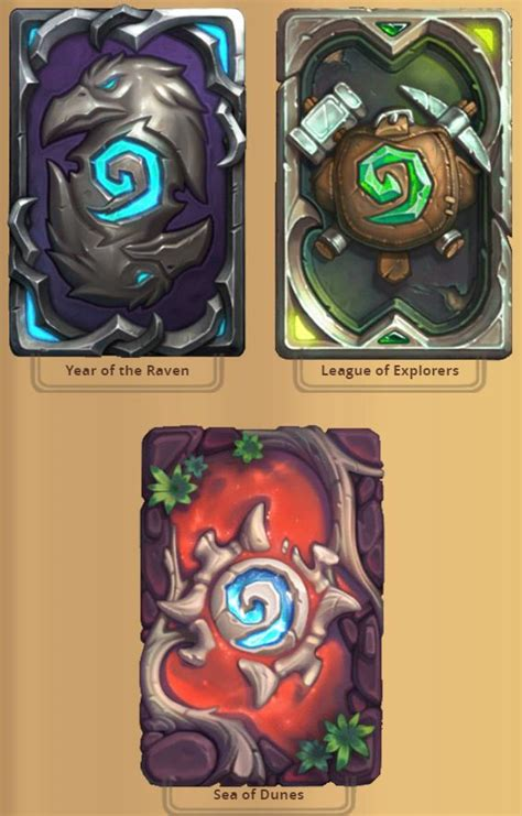 New card backs added with Hearthstone's latest expansion