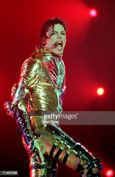 """Michael Jackson performs on stage during is """"HIStory"""