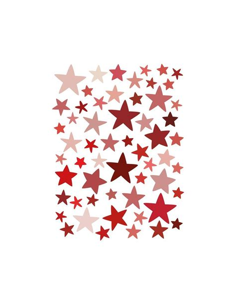 Stickers muraux: Etoiles rouges