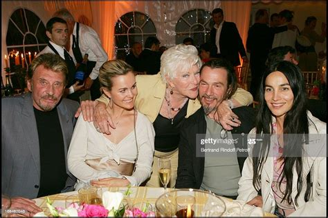 Laeticia and Johnny Hallyday, Florent Pagny and wife