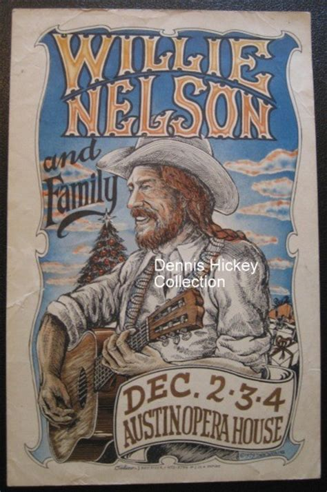 WILLIE NELSON CONCERT POSTER SIT