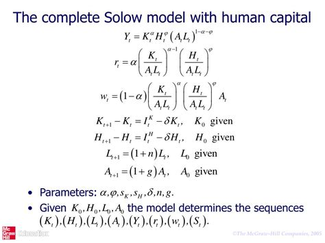 PPT - EDUCATION AND GROWTH: THE SOLOW MODEL WITH HUMAN