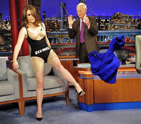 Tina Fey strips down to her Spanx to say 'Bye, Dave!' on